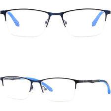 Leichte Herren Damen Brillengestell Titan Metall Zierlich Brillenfassungen Blau