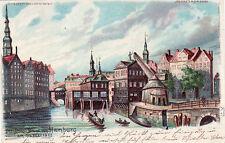 AK, Hamburg, der Große Brand von 1842 - bei Gegenlicht, 1899 (D)5026-1