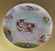 Paws in Action RISE AND SHINE Cat Kitten Plate #4 Fourth Issue Martin Rien Kitty