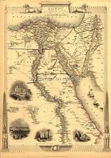 A1 83.8x58.4cm Große Antik Vintage Landkarte Ägypten & Arabien Petraea Alte Plan