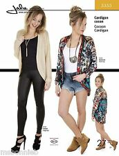 Jalie Cocoon Cardigan Loose-fit, Open-Front Sewing Pattern 3353 Women & Girls Sz