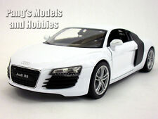 Audi R8 1/24 Scale Diecast Metal Model by Welly - WHITE