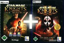 Star Wars Knights of the Old Republic 1 & 2 alemán PC ningún! import KOTR I & II