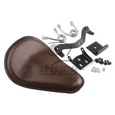 Driver Solo Seat Brackets Saddle Kits For Harley Sportster XL 883 XL1200 Brown