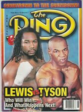 THE RING MAGAZINE LENNOX LEWIS-MIKE TYSON BOXING HOFers COVER AUGUST 2002