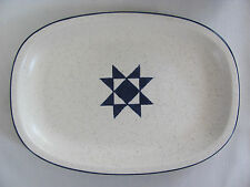 "Fabrik Jim McBride Seattle- American Quilt-Blue Star -12"" Oval Serving Platter"