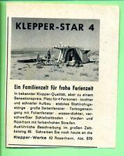 Klepper-- Klepper Star 4-- Familienzelt--Werbung von 1965