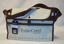 Danielson Cream & Brown Canvas Fishing Polar Creel Bag w/Adjustable Strap
