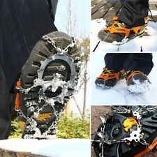 12-teeth Snow Ice Shoe Boot Spikes Grips Cleats Crampons Chain Anti Slip Hiking