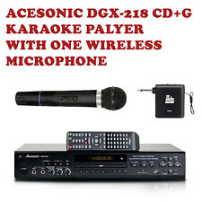 Acesonic DGX-218 CD+G DVD Karaoke Player with MP3G Ripping Wireless Microphone