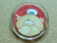 ANDREW BROWNSWORD COLLECTION HAPPY BIRTHDAY TO ME! PIN BADGE FROM 1992 PERSPEX