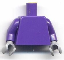 Lego Dark Purple Torso Plain & Arms & Light Bluish Gray Hands Monochrome Parts