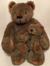 2 Vintage Gund Collectors Classics LE Large Small Plush Bear RARE Jointed Brown