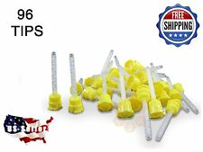 96 HP YELLOW Mixing Tips  – 4.2 mm Impression - Genuine Mixpac - All VPS / PVS