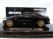 Rare Minichamps 1:43 Brabus Mercedes 850 s63 S-Class Coupe Black 2015 437034220