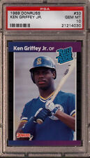 Ken Griffey Jr. Mariners 1989 Donruss #33 Rated Rookie Card rC PSA 10 Gem QTY