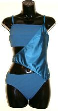 Ladies Speedo Swimsuit Sculpture Wrap Swimming Costume Swimwear Teal Size 34""