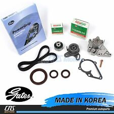 Gates HTD Timing Belt Kit Water Pump Fits 96-11 Hyundai Accent Kia Rio 1.5L 1.6L