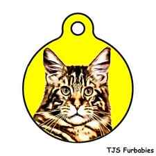 Maine Coon Cat-Custom Personalized Pet ID Tag for Dog & Cat Collars & Harnesses