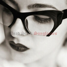 CUT OFF CATEYE Sunglasses BLACK CLEAR LENS kitty pointy rockabilly pin up girl