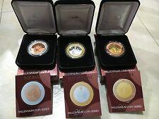 """1999 2000 2001 """"PAST PRESENT FUTURE"""" MILLENNIUM Coin Set - Mint Condition"""