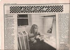 RUSH Permanent Waves album review 1980 UK ARTICLE / clipping