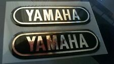 NEW Yamaha AT DT CT1 & others tank badges Sm-Md Blk/Chrome YAM_T4B vintage style