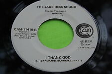 Hear Rare Gospel Soul 45: The Jake Hess Sound ~ More And More ~ I Thank God