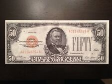 Reproduction Old United States $50 Bill Gold Certificate 1928 Ulysses Grant Copy