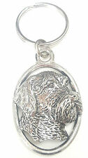 Wire Haired Terrier Dog Handcrafted from Solid English Pewter In the UK Key Ring