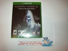 * New * Sealed * Middle-Earth: Shadow of Mordor Game of the Year GOTY Xbox One