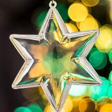 12x Transparente árbol de Navidad estrellas Decoración Adornos De Regalo Transparente Baubles
