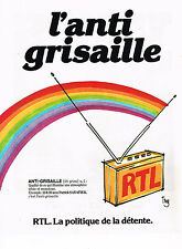 PUBLICITE ADVERTISING 064  1981  RTL  radio   L' ANTI-GRISAILLE