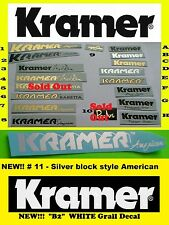 Kramer Guitar Neck American Baretta Pacer Floyd Rose Nightswan Waterslide Decal