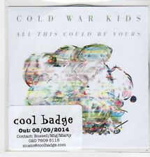 (FJ872) Cold War Kids, All This Could Be Yours - 2014 DJ CD