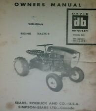 Sears Suburban David Bradley Garden Tractor & Rotary Mower Owner Parts 2 Manuals