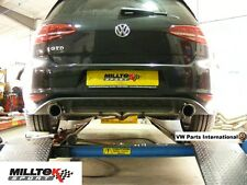 VW Golf MK7 2.0 GTD MILLTEK Cat Back Res Exhaust GTI Style Polished GT100 EC TUV