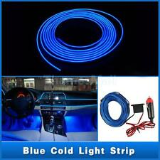 12V 1m Blue LED Cold Light Auto Strip Neon Lamp Decorative Atmosphere