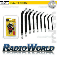 Rolson 9pc Short Arm Star Torx Key Set with Holder Car Garage DIY T10 - T50