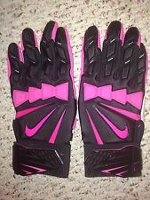 NIKE HYPERBEAST MASSIVE-IMPACT LINEMAN FOOTBALL GLOVES BCA PINK/BLACK - 3XL