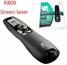 Hot! Logitech Wireless Presenter R800 Green Laser Pointer USB Receiver PPT Pen