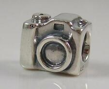 New Authentic Sterling Silver PANDORA Camera Photo Travel Charm 790961 -Retired