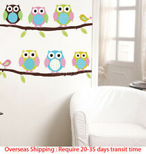 DIY Removable Six Owls Branch Decal Wall Mural Sticker Poster Home Room Decor*