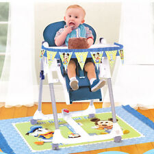 Disney Baby Mickey Mouse NEW 1st Birthday Party High Chair Decorating Kit 2pc