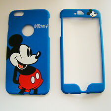 Blue Disney Mickey Mouse Dual Front & back case cover For iPhone 6 Plus 5.5""