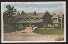 POSTCARD ROCHESTER NY/NEW YORK GENESEE VALLEY GOLF COURSE COUNTRY CLUB 1920'S