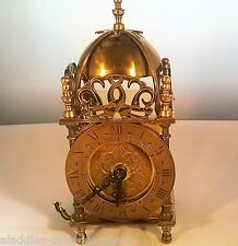 ANTIQUE ORIGINAL SUPERB VINTAGE ELECTRIC BRASS LANTERN CLOCK SMITHS ENGLAND