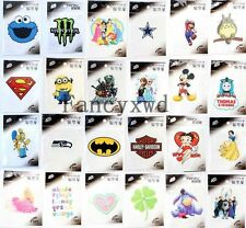 Iron-on Sticker DIY Accessory Patch Transfer T-Shirt Sticker 50pcs Mixed Design