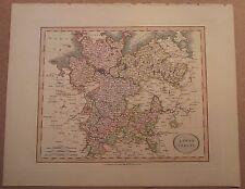 John cary carte de basse-saxe 1813 de son nouveau elementary atlas