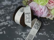 Chic Antique,  bedrucktes Stoffband auf Holzspule, 5 m, Handmade